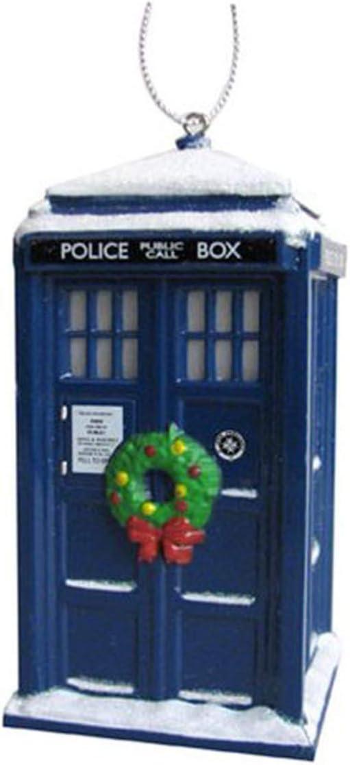 Docor Who Christmas 2020 Amazon.com: Kurt Adler Doctor Who Tardis With Wreath Light up