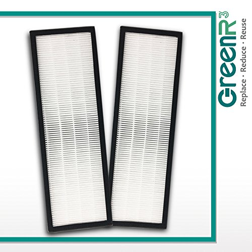 GreenR3 for Air Purifier True HEPA Air Filter for GermGuardian Filter B 2-PACK SET fits AC4300 AC4800 AC4900 AC4825 AC4850 AC4850PT AC4900CA CDAP4500 FLT4825 FLT-4800 FLT4800 Model Series and more ()