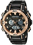 Armitron Sport Men's 20/5108BRG Analog-Digital Chronograph Rose Gold-Tone and Black Resin Strap Watch