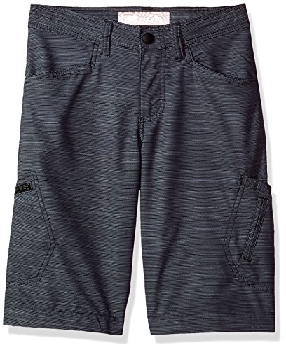 LEE Boys' Big Dungarees Grafton Cargo Short, Gray Galaxy Print 14 Husky