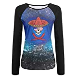 HGYK Shirt Skull Chili Sunglasses American Women's Comfort Crew Neck Long Sleeve Raglan T-Shirt Baseball Tshirt