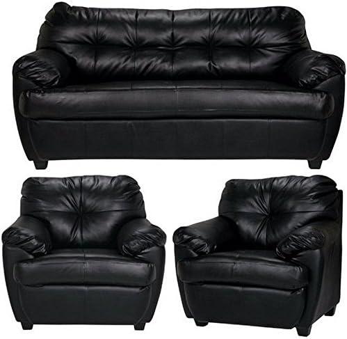 Furny Rosabelle Five Seater 3 1 1 Sofa Set Standard Black Amazon