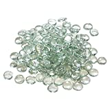 Houseables Clear Pebbles, Fillers for Vases, Decorative Round Marbles, 5 LB, 500-600 Gems, Flat Bottom, Round Top, Glass Rocks & Stones, Bowl Filler Gem, For Vase and Decor, Centerpieces, Aquarium