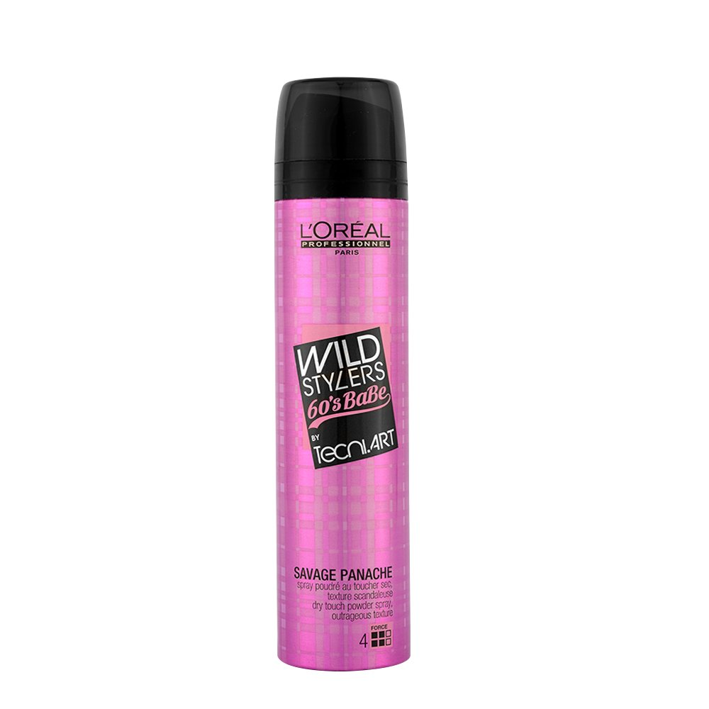 L'Oreal Tecni art Wild stylers 60's Babe Savage panache Dry touch powder spray 250ml L' Oreal