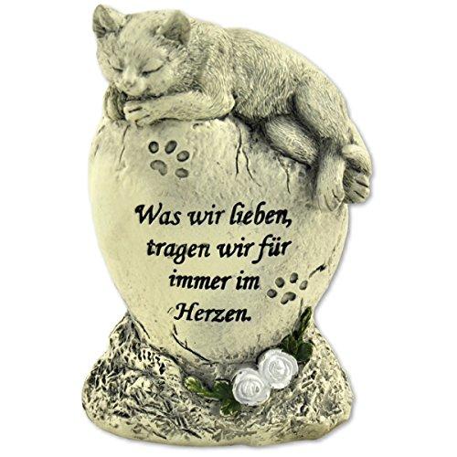Tiergrabstein Grabschmuck Katzen Gedenkstein Grabdeko