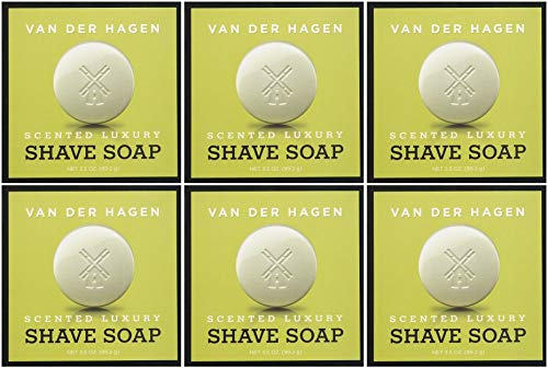 Van Der Hagen Men's Luxury Scented Shave Soap, 3.5 Ounce (Pack of 6) (Van Der Hagen Glycerin)
