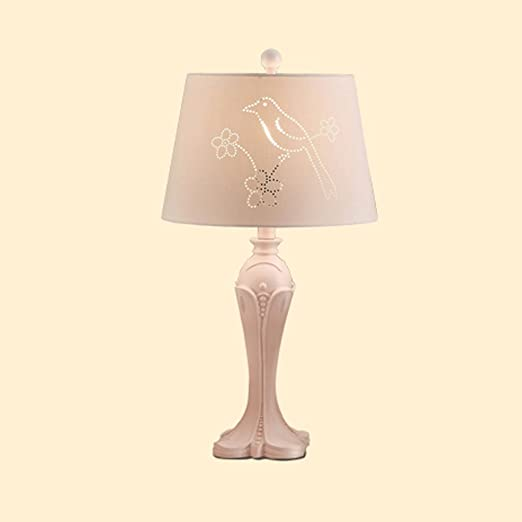 Charmant Table Lamp European Modern Simple Bedside Lamp Bedroom Children And Girls  Warm Pastoral Cloth Flowers And