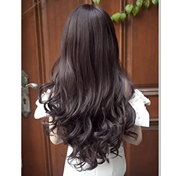 Amazon Personalized Korean Hairstyle Round Face Fluffy Bangs