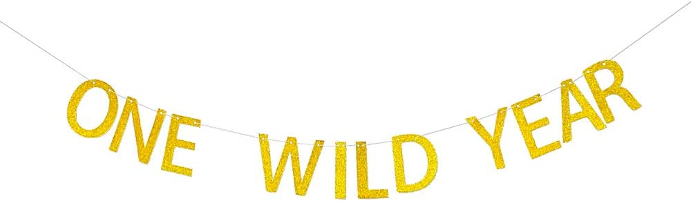 One Wild Year Banner, Wild One First Birthday Party Decoration, 1st Birthday Party Decoration