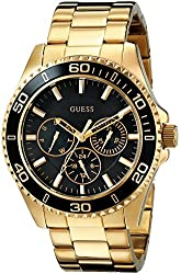 GUESS Women's U0231L3 Multi-Function Gold-Tone Sport Watch