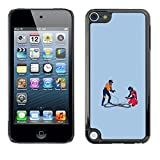 KLONGSHOP // Snap On Hard Back Shell Rubber Case Protection Skin Cover - Race Car Track - Funny - Apple iPod Touch 5 //