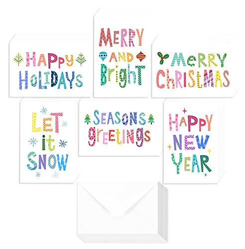 Christmas Winter Holiday Family Greeting Cards with Envelopes Included