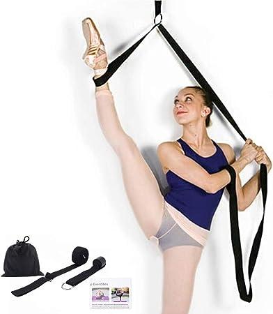 MYBESTFURN Leg Strecher Lengthen Ballet Stretch Band,Great for Ballet Cheer Dance Gymnastics, Leg Stretcher Door Flexibility Dance Gymnastics Trainer Stretching Equipment