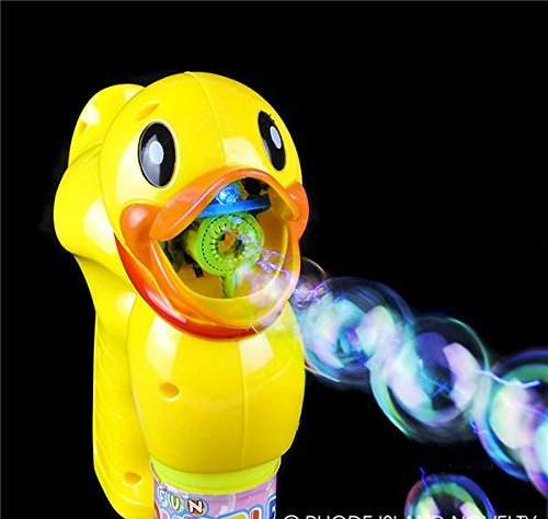 6'' LIGHT UP DUCK BUBBLE BLASTER, Case of 24