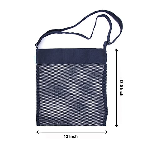 Beach Mesh Tote Bag Sea Shell Sand Toy Bags for Adults Teens Kids 4 Pack by Cooque by Cooque (Image #5)