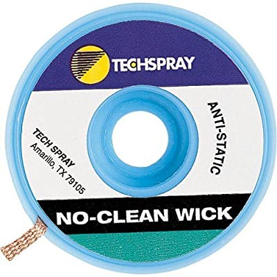 "Techspray 1823-10F No-Clean Desoldering Braid, .098"" x 10'"