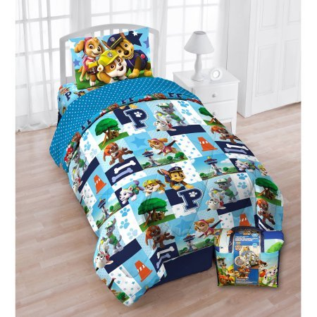 Nickelodeon's Paw Patrol 'Pups In the Park' 4-Piece Twin Bedding Set