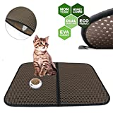 Pet Bed - Cat Litter Mat - 30x22 Inch Double-Layer Innovative Waterproof Dual-Structure Cat Litter Box Mat Full Hole - Large Litter Trapping Best Comfortable Mat for Cat Dog Pet