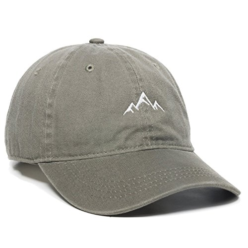 (Outdoor Cap -Adult Mountain Dad Hat-Unstructured Soft Cotton Cap, Olive, One)