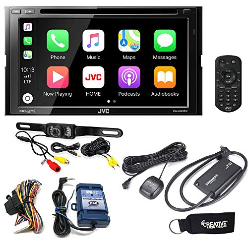JVC KW-V940BW Receiver w/Wireless compatible with Android Auto, Apple CarPlay, Sirius Tuner, Rear Camera, Steering Wheel ()
