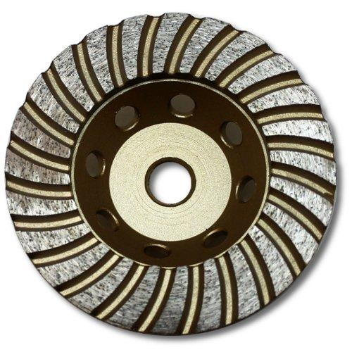 Kent 4-inch Turbo Cup Diamond Grinding Wheel, Grit 70~80 for Granite, Economy Quality, 7/8'' Arbor