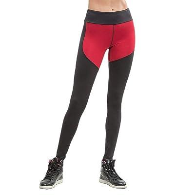 Targogo Deportes De Las Mujeres Leggings De Yoga Elástico Elástica Cintura Splice Entrenamiento Fitness Correr Pantalones Pantalones De Chándal Pantalones De Chándal Pantimedias: Ropa y accesorios