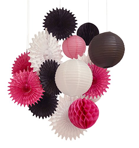 14pcs Paper Lantern Honeycomb Ball pom pom for Wedding Diva Birthday Party Decoration