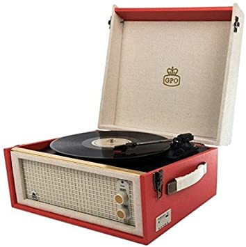 GPO Bermuda Classic Retro Style Turntable With MP3 USB Built In Speaker And