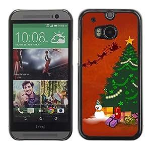 YOYO Slim PC / Aluminium Case Cover Armor Shell Portection //Christmas Holiday Snow Man Tree 1268 //HTC One M8
