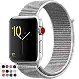 VATI Compatible for Apple Watch Band 38mm 42mm Soft Breathable Nylon Sport Loop Band Adjustable Wrist Strap Replacement Band Compatible for iWatch Apple Watch Series 3/2/1, Sport, Nike+, Edition