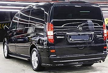 Reposapiés para Mercedes Vito y Viano W639 Extra Largo a Partir del año de construcción 2004 Modelo Truva, Color Negro: Amazon.es: Coche y moto