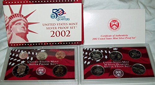 2002 S United States Mint Silver Proof Set Gem Uncirculated