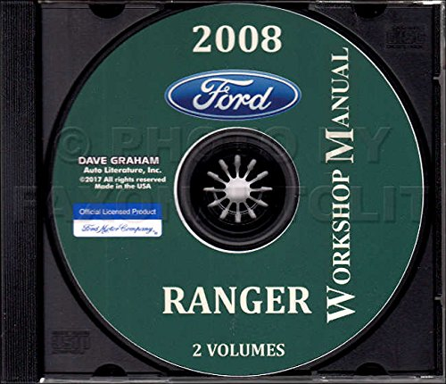 2008 FORD RANGER REPAIR SHOP & SERVICE MANUAL CD For Short Bed, Long Bed, Regular Cab, Extended Cab, Super Cab, FX4, FX4 Off-Road, Sport, STX, XL, and XLT