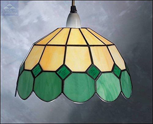 Lampadari E Plafoniere Tiffany : Br cm verde bistro design tiffany paralume in vetro colorato