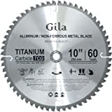 GilaTools 10-inch 60 Teeth TCG Non-Ferrous Metal Cutting Carbide Saw Blade
