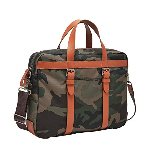 (Fossil Men's Haskell Ew Utility Brief Briefcase, Multi, One Size)