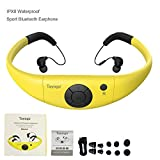 Tayogo Active Sport Bluetooth 2-in-1 Waterproof Anti-sweat Headset and Microphone for Hands-free Call Answering (Yellow)