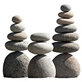 Natural River Rock Cairn Stone Stacked Zen Garden Decoration Stone Set of 3 Review