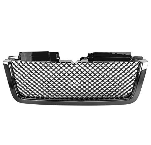 Chevy Trailblazer Hood - ZMAUTOPARTS Chevy Trailblazer LT Mesh Style Front Upper Hood Grille Gloss Black