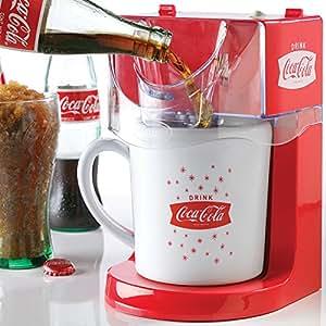 Nostalgic Coca-Cola Coke 16 Ounce Single Serve Frozen Slushy Maker Machine by Nostaglia
