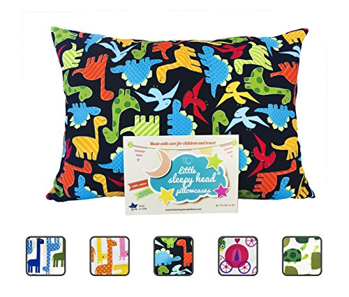 Little Sleepy Head Toddler Pillowcase - Utopia Collection: Dinosaurs, 13 X 18