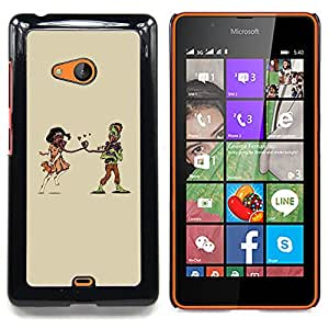 """A-type Arte & diseño plástico duro Fundas Cover Cubre Hard Case Cover para Nokia Lumia 540 (El amor de la tipografía del mensaje"""")"""