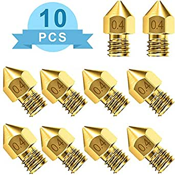 10 boquillas para impresora 3D de 0,4 mm, boquilla extrusora MK8 ...