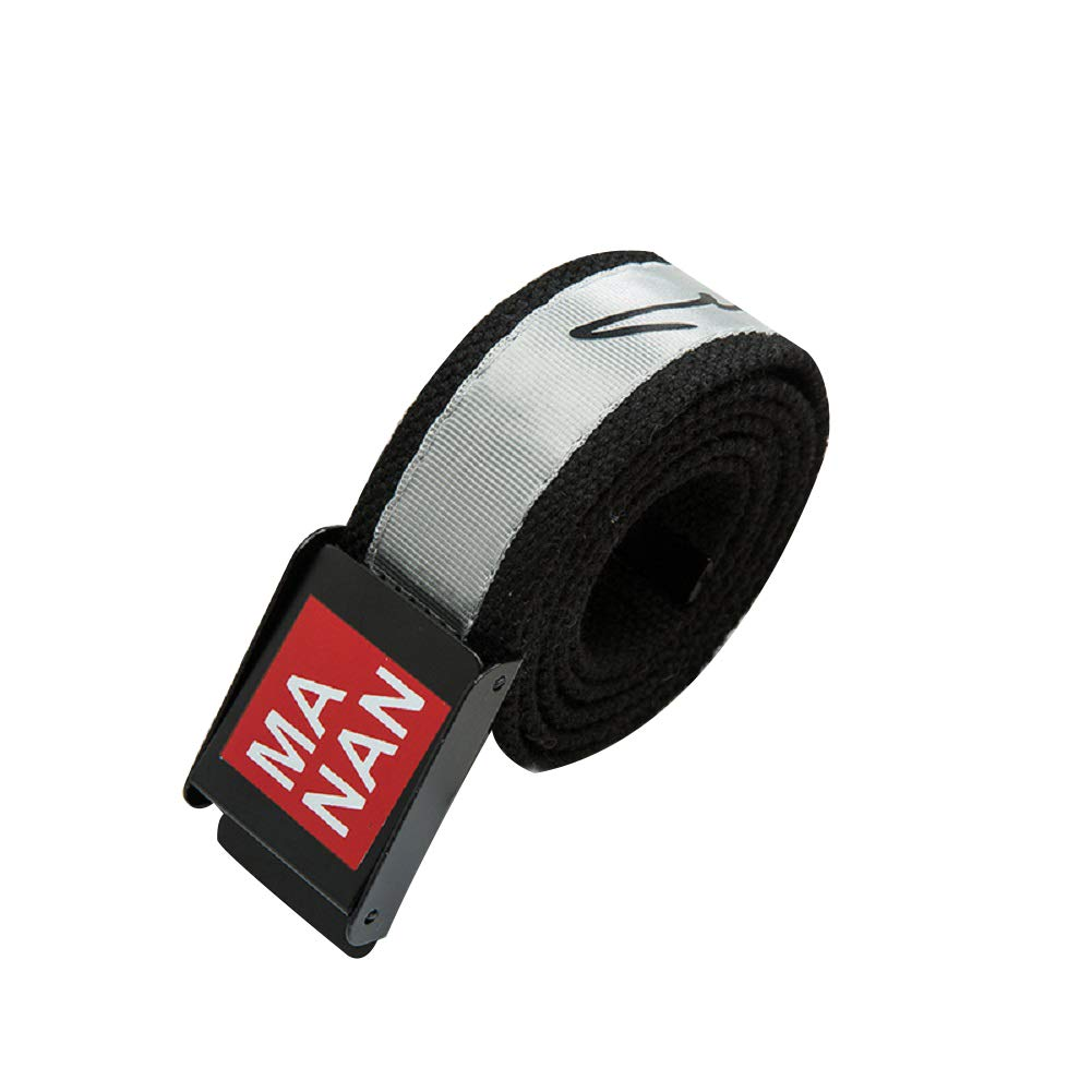 Men's Canvas Belt 43.3'' Automatic Smooth Buckle Casual Belt Young Student Belt