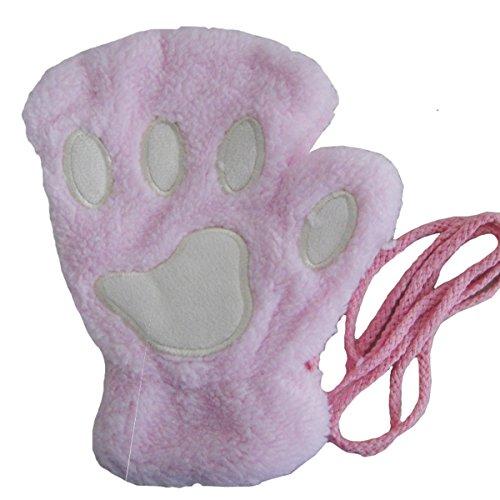 Winday Women Bear Plush Cat Paw Claw Glove Soft Winter ()