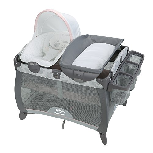 Graco Pack 'n Play Quick Connect Portable Napper Deluxe Bassinet, Diana (Graco Travel Playpen)