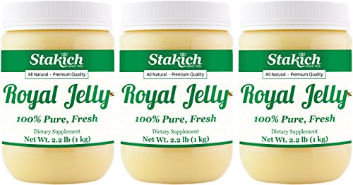 Stakich FRESH ROYAL JELLY - 100% Pure, All Natural, Highest Quality - No Additives/Flavors/Preservatives Added - 3 KG by Stakich