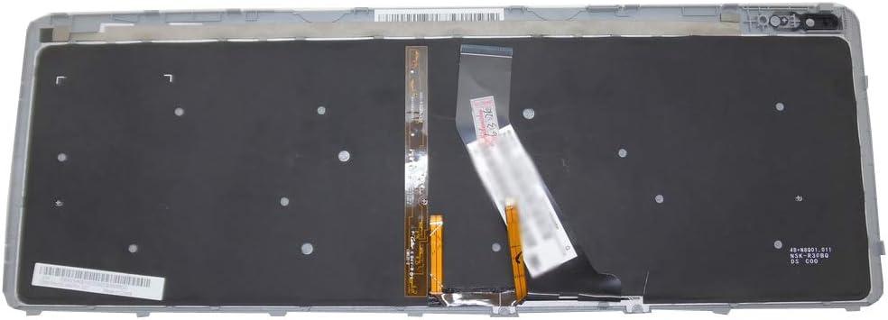 GAOCHENG Laptop Backlit Keyboard for ACER Aspire V5-551 V5-551G V5-571 V5-571P V5-571G V5-571PG V5-531 V5-531G V5-531P V5-531PG Arabia AR Blue Frame