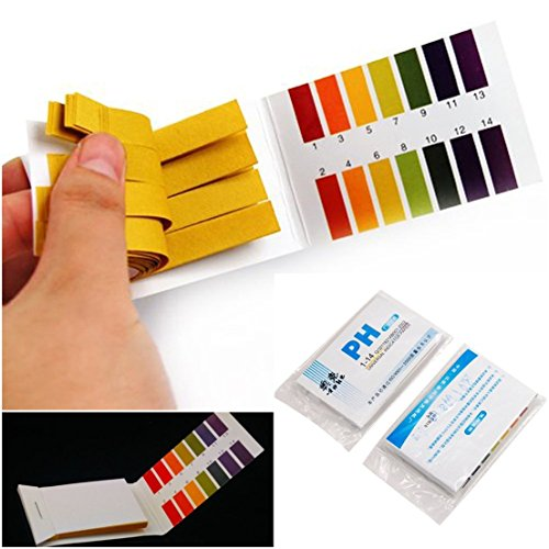 160 Tester Finest Popular pH Test Strips Universal Alkaline Acid Indicator with Color Chart