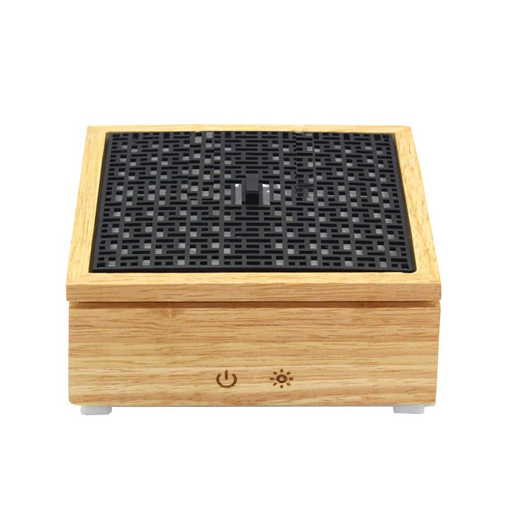 【新作入荷!!】 シンプルなエッセンシャルオイルディフューザ寝室睡眠アロマ加湿器ヨガ教室アロマテラピーストーブホームアロマセラピーカラフルなライトサイレントアロマディフューザー (Color : Wood color, Size : 14.5* 14.5* Size 6cm) 14.5*6cm Wood color B07HKQSZK8, マルニシオンライン:9084e140 --- arianechie.dominiotemporario.com